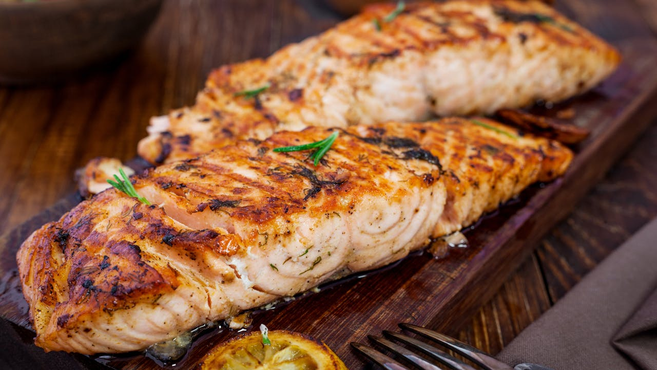 Grilled Salmon with Provençal Relish Image