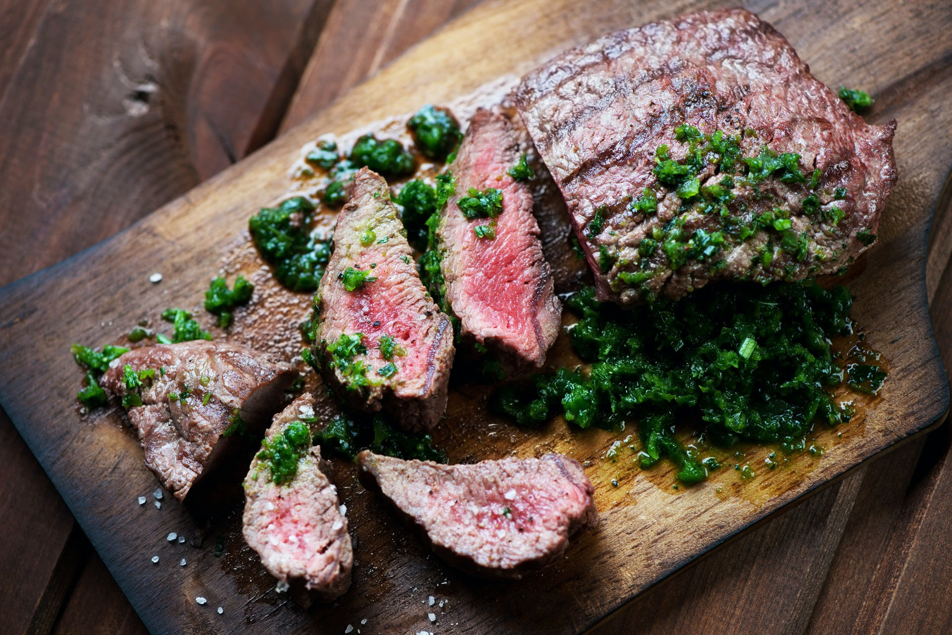 Grilled Flank Steak with Avocado Chimichurri Image