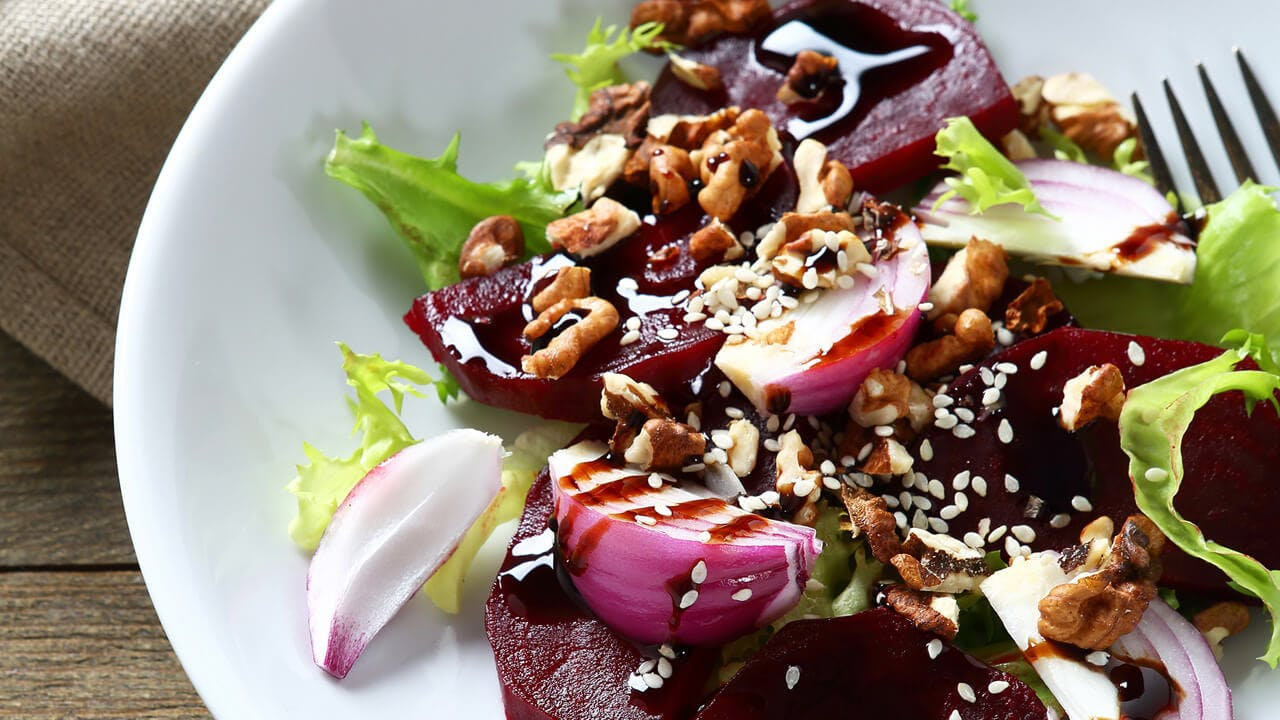 Roasted Beet, Walnut & Endive Salad