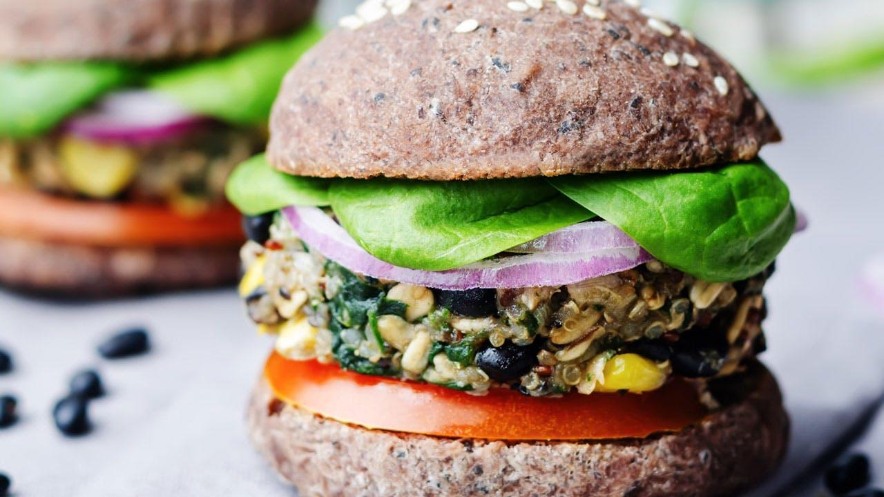 Quinoa Black Bean Burger Image