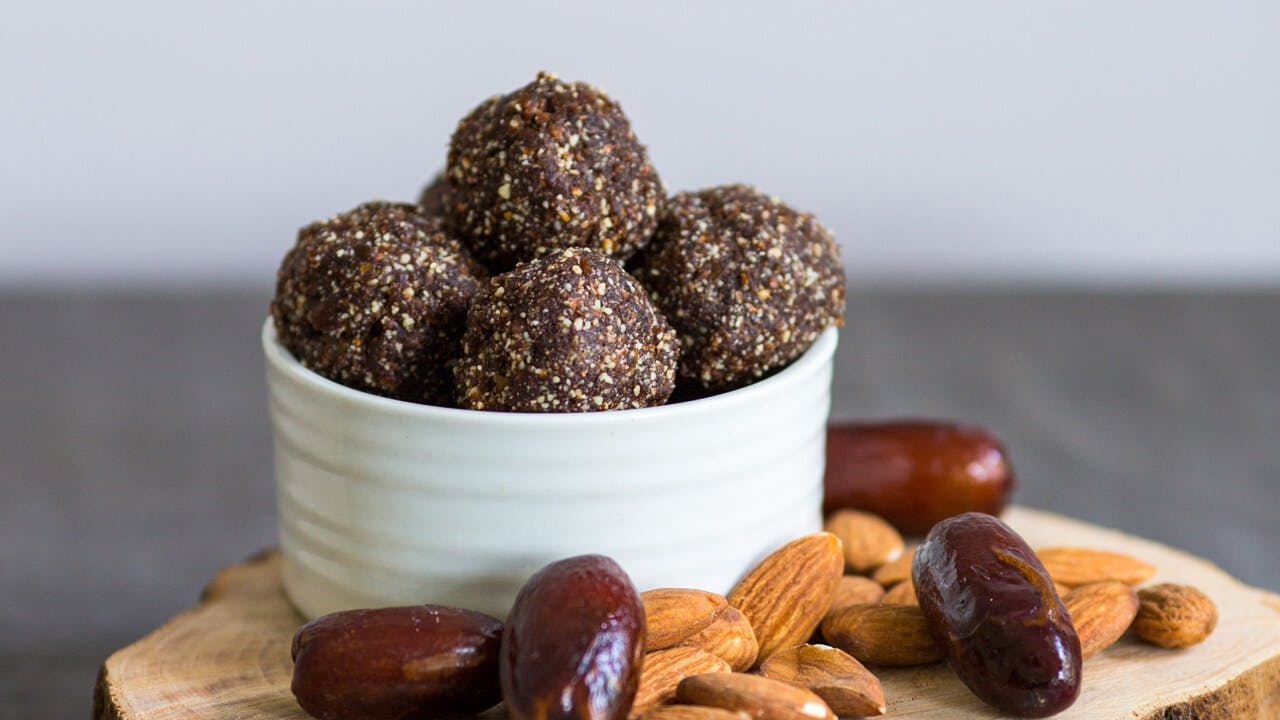 Chocolate Almond Date Balls Image