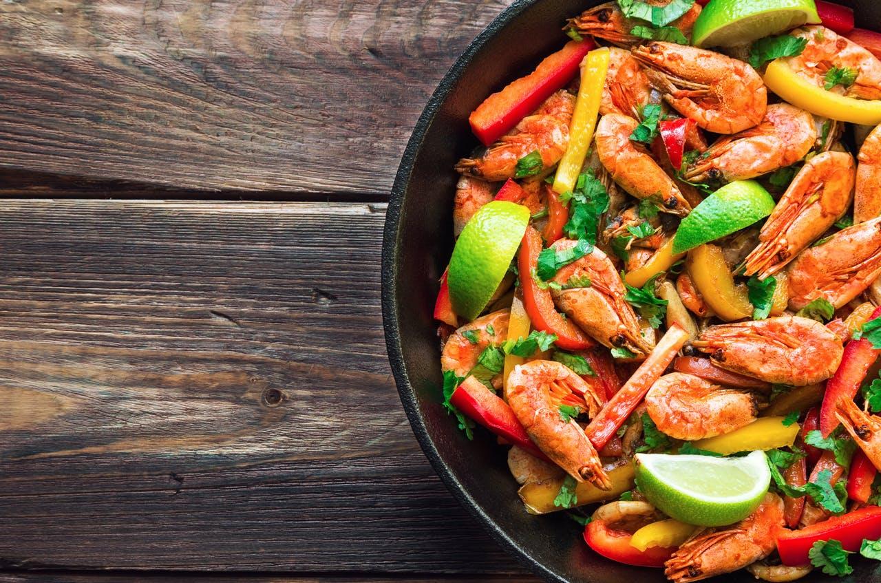Spicy Cilantro Shrimp Skillet Image