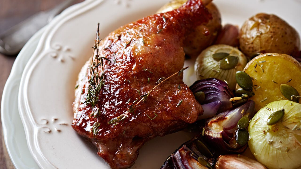 Orange Glazed Duck Legs
