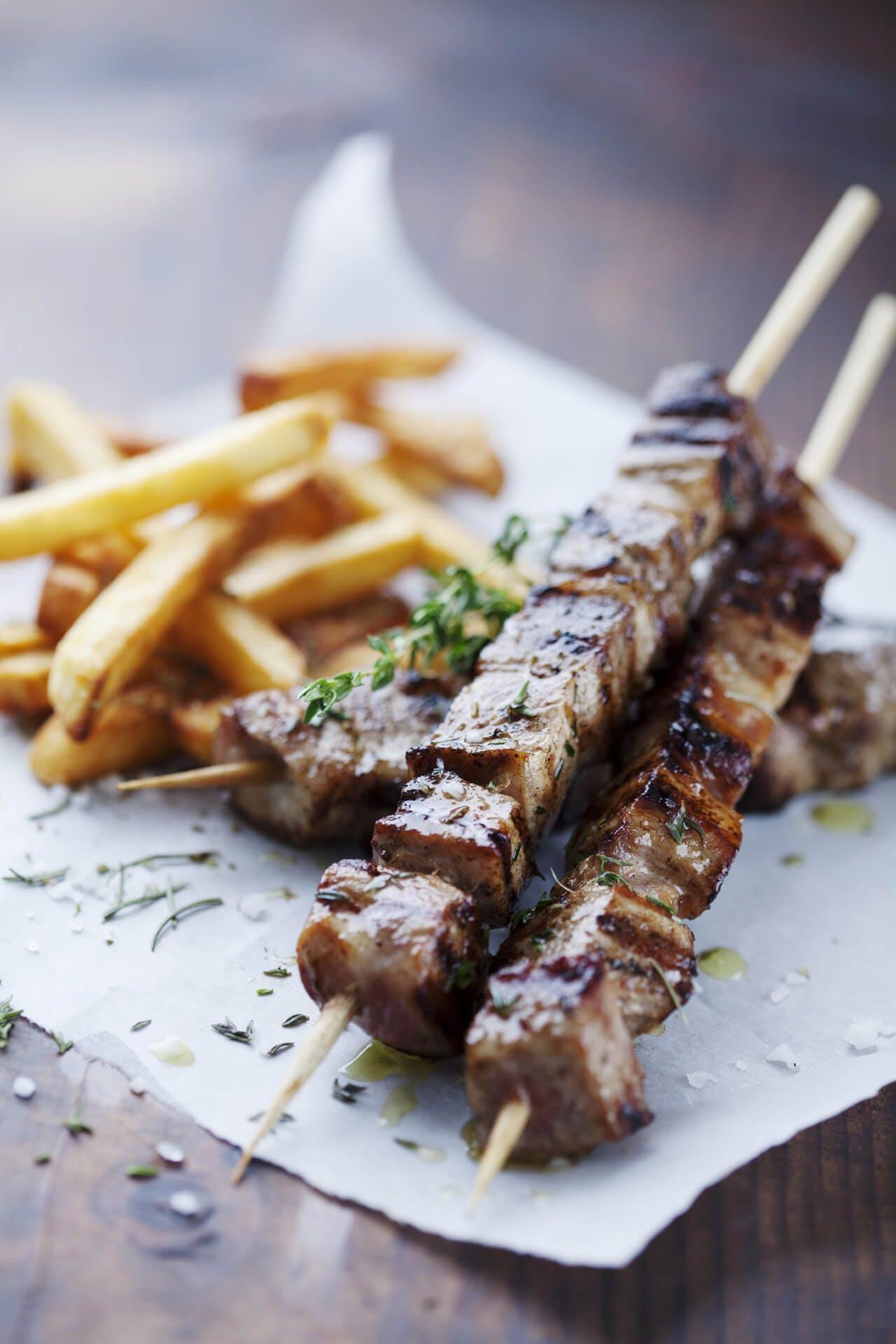 Greek Lamb Kebabs Image