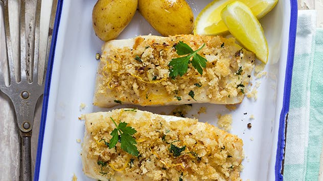 Parmesan Crusted Halibut Image