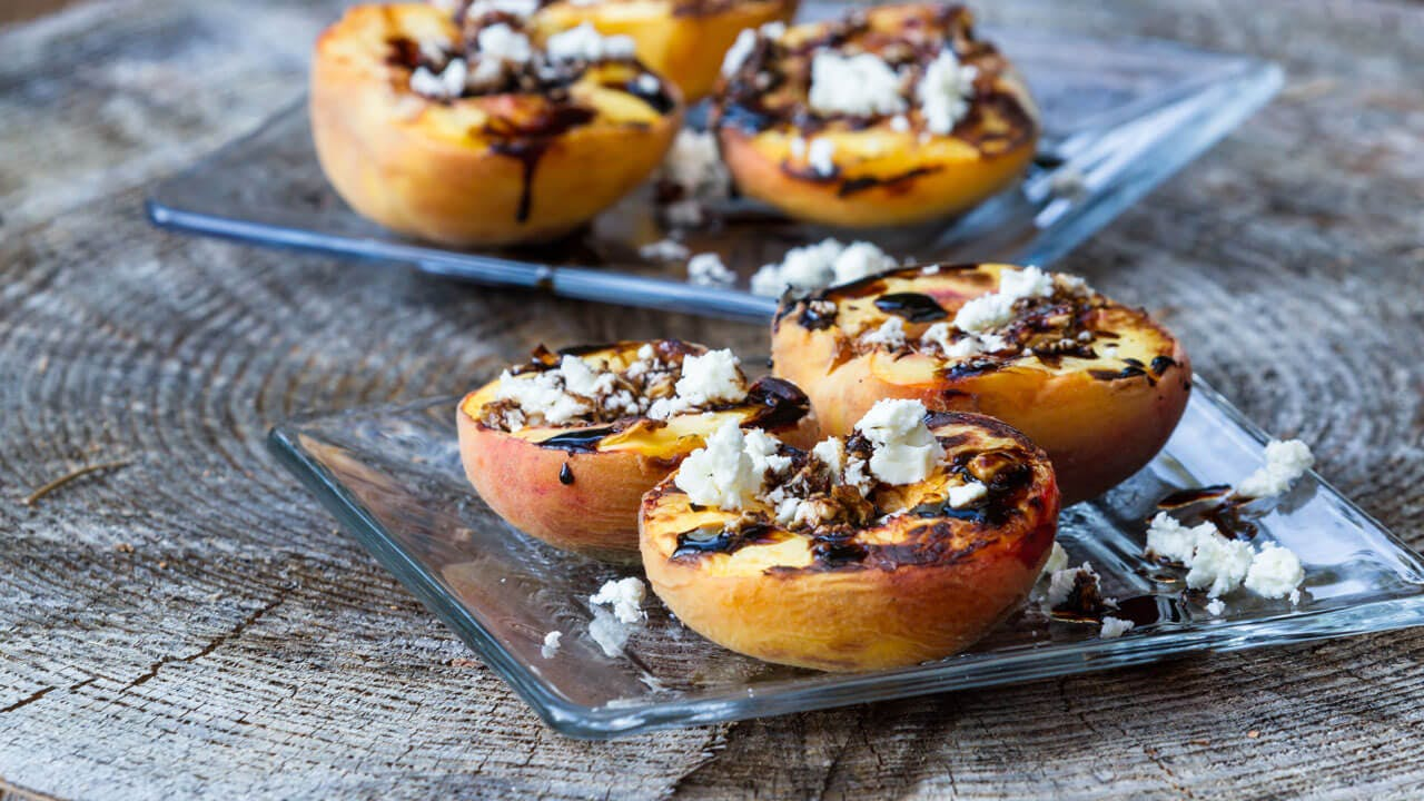 Grilled Peaches with Balsamic Reduction Image