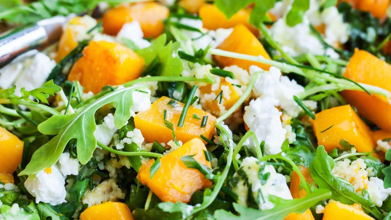 Arugula & butternut squash salad