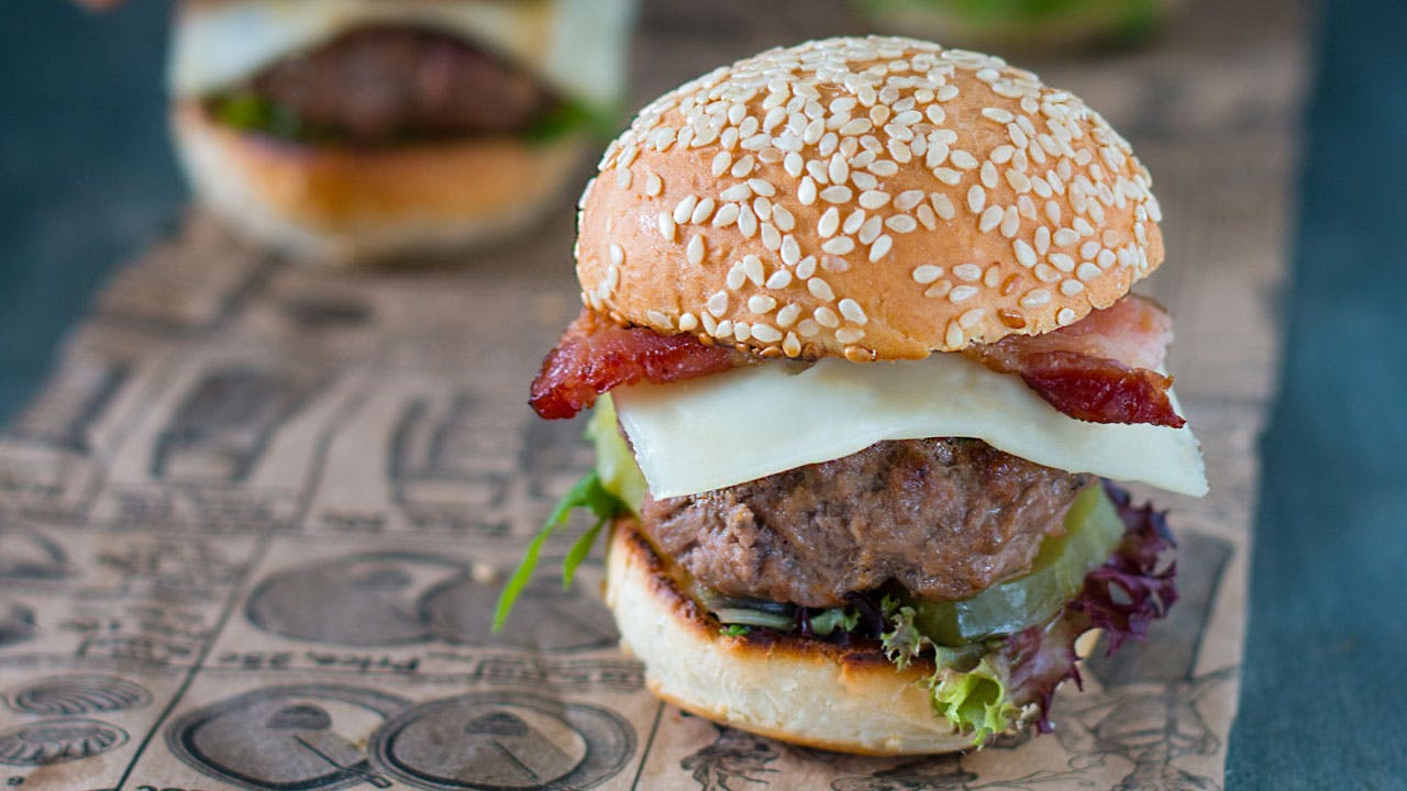 Swiss & Bacon Hamburger Sliders
