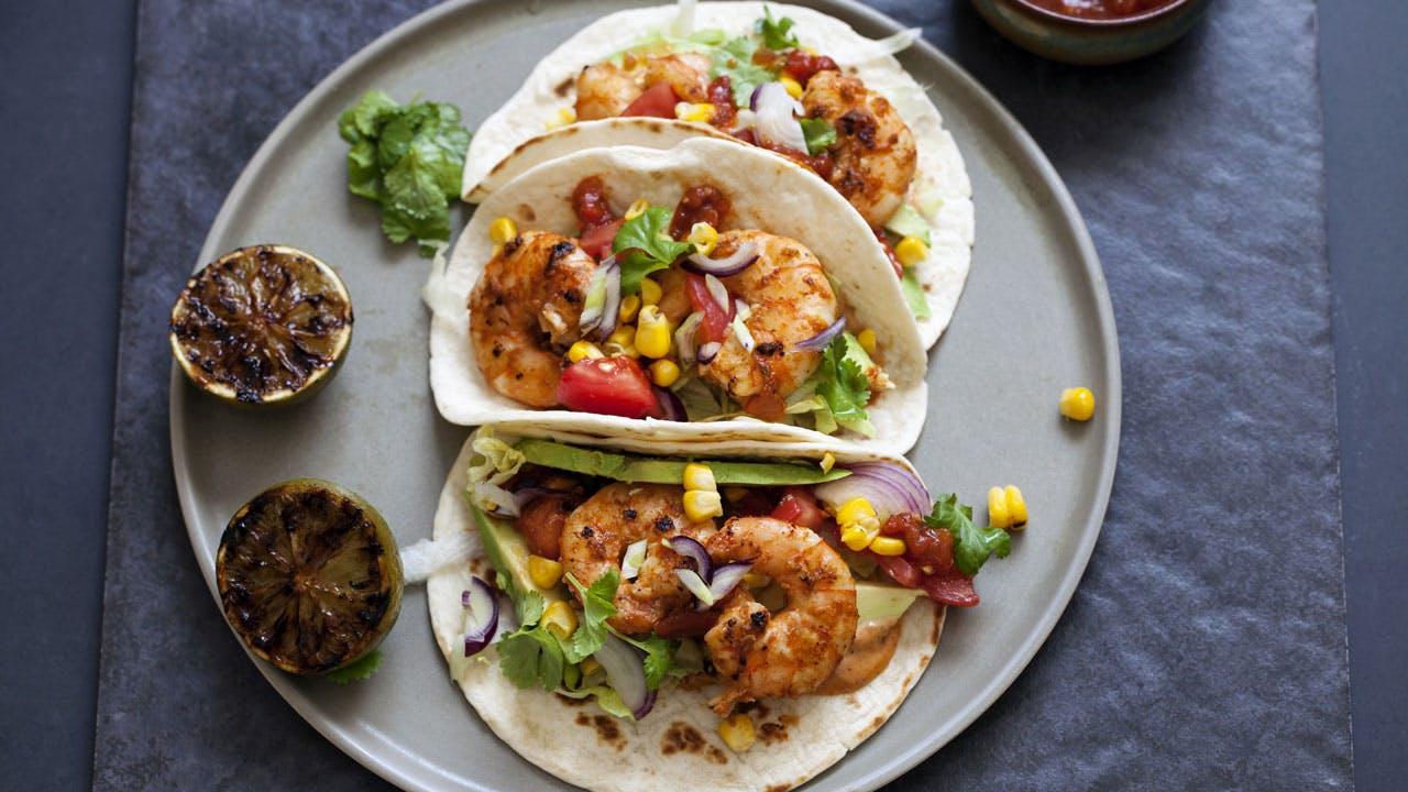 Spicy Prawn Tacos