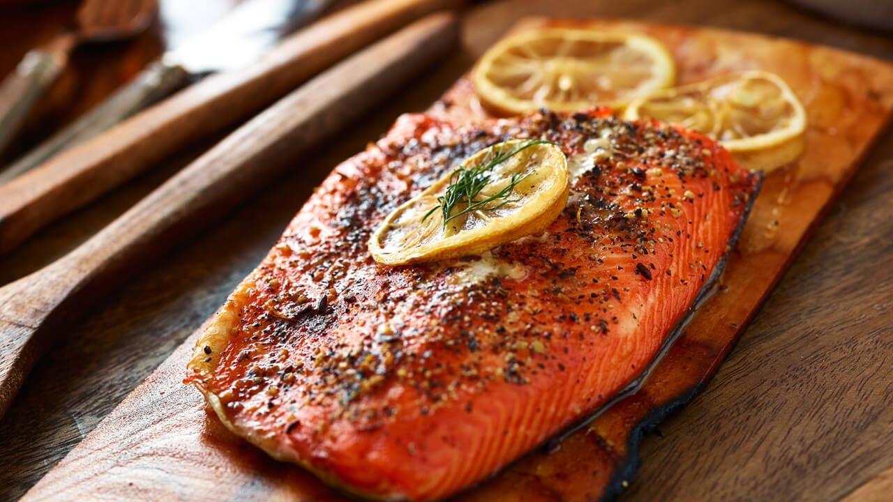 Cajun Spiced Cedar Plank Salmon