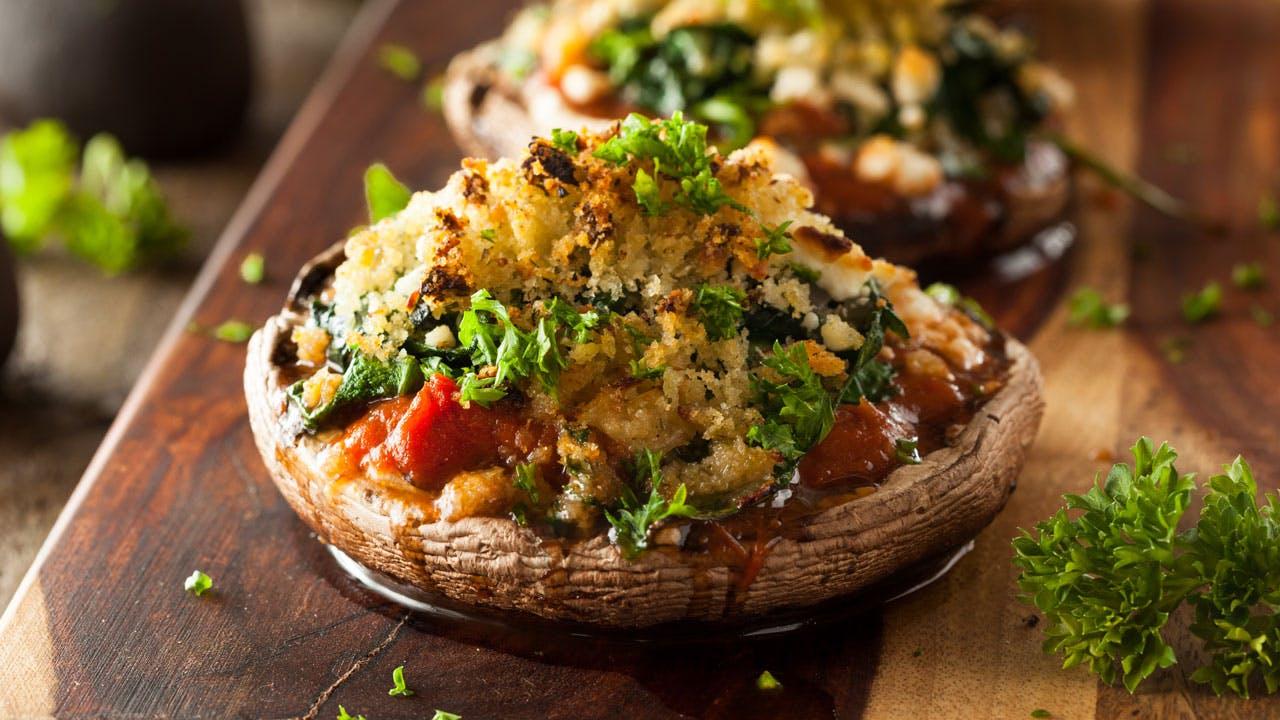 Stuffed Portobello Mushroom Image
