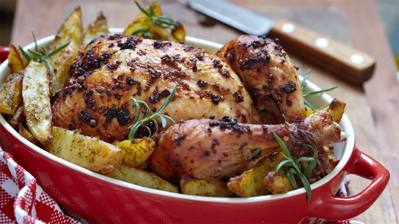 Roast Chardonnay Lemon Chicken Image