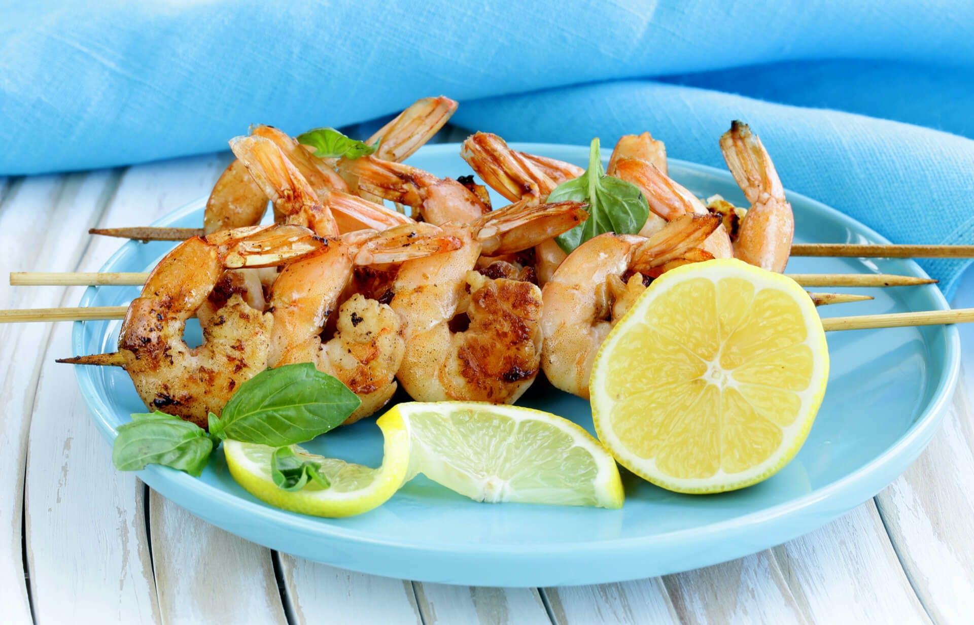 Grilled Shrimp Scampi Skewers