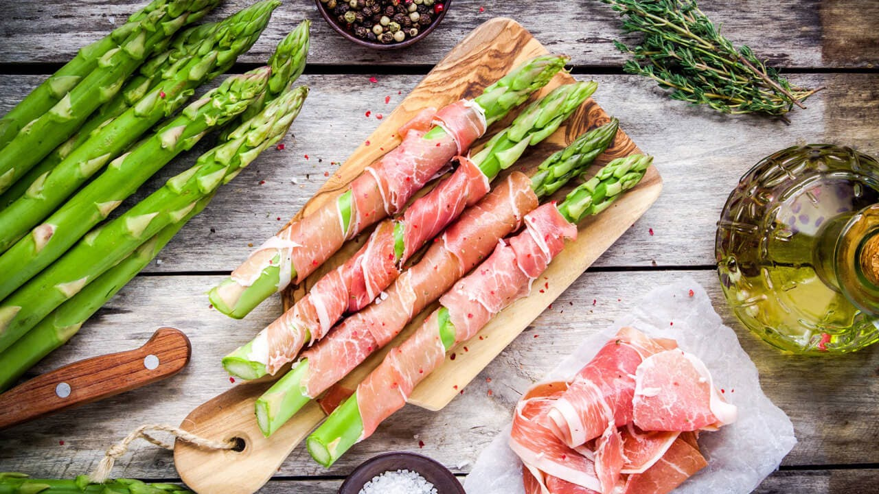 Prosciutto Wrapped Asparagus Image