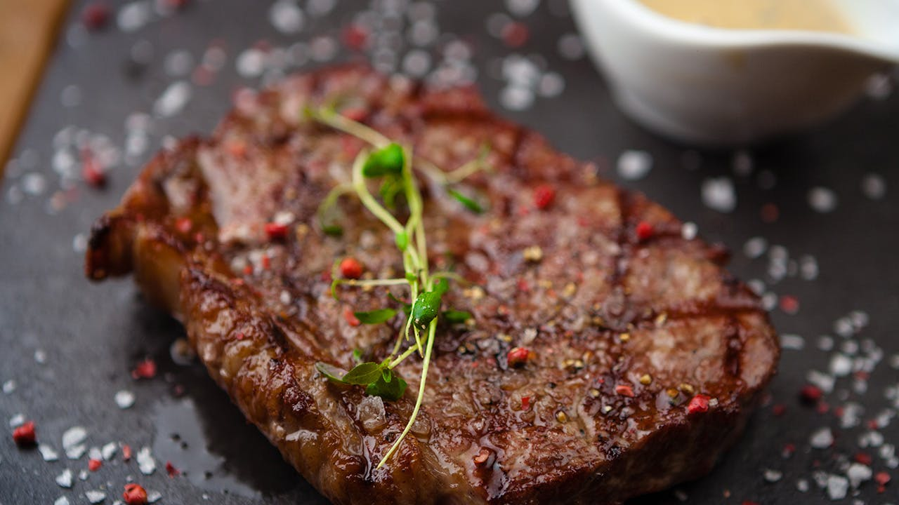 Strip Steak With Coffee Butter Image