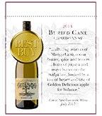 2014 Buried Cane Chardonnay - Shelf Talker