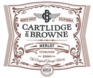 2013 Cartlidge & Browne Merlot, North Coast