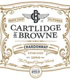 2013 Cartlidge & Browne Chardonnay, North Coast