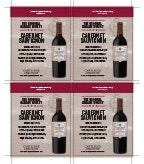 Original Garage Winery Cabernet Sauvignon Shelf Talker