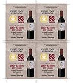 2015 Cabernet Sauvignon Shelf Talker - 93pts 4 up