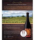 Cherry Pie Huckleberry Snodgrass Pinot Noir Sell Sheet
