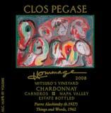 2008 Clos Pegase Chardonnay, Hommage, Napa Valley