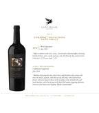 2013 Clos Pegase Cabernet Sauvignon Sell Sheet