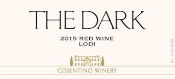 2015 Cosentino The Dark, Lodi