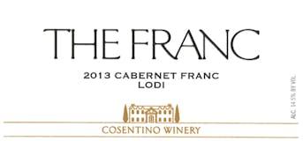 2013 Cosentino The Franc, Lodi