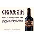 Cigar Zin - Shelf Talker
