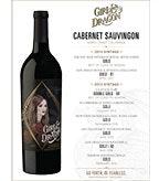 2015 Girl and Dragon Cabernet Sauvignon Golds