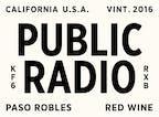 2016 GWCo Public Radio Red Wine, Paso Robles