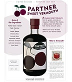 Partner Sweet Vermouth Sell Sheet