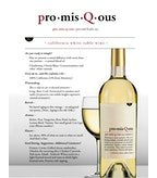 PromisQous White Table Wine, California