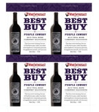 Purple Cowboy Wine Enthusiast Best Buy 4-Up