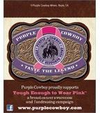 Purple Cowboy Tough Enough to Wear Pink