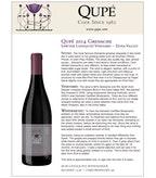 2014 Qupe Grenache, Sawyer Lindquist Vineyard, Edna Valley
