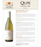 2014 Qupe Marsanne, Santa Barbara County