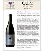 2016 Qupe Grenache, Sawyer Lindquist Vineyard, Edna Valley