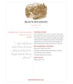 2009 Ray's Station Cabernet Sauvignon, North Coast