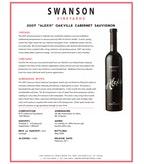 2007 Swanson Cabernet Sauvignon, Alexis, Napa Valley