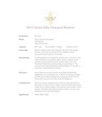 2013 Tamarack Seven Hills Red Wine, Walla Walla