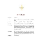 2014 Tamarack Merlot, Columbia Valley