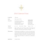 2015 Tamarack Cabernet Franc, Columbia Valley