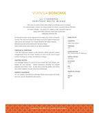 2013 Viansa Heritage White Blend, Reserve Series, Carneros