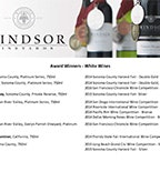 2016 Windsor Vineyards Medals - January