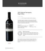2015 Windsor Vineyards Cabernet Sauvignon, Platnum Series, Napa Valley