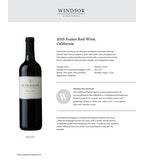 2015 Windsor Vineyards Fusion Red, California