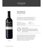 2015 Windsor Vineyards Sangiovese, Platinum Series, Sonoma Valley