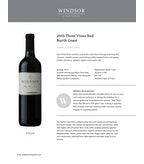 2015 Windsor Vineyards Three Vines Red, Private Reserve, North Coast